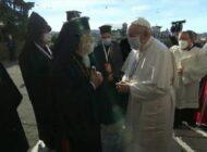 El Papa aparece con mascarilla en un encuentro de oración con líderes de otras religiones por la paz