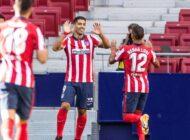 Luis Suárez lideró la victoria del Atlético