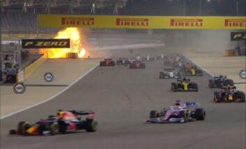 Se incendió monoplaza de Grosjean en el GP de Bahrein